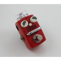 Mini Pedal Distorção Guitarra Baixo Hotone Chunk Distortion
