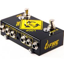 Pedal Guitarra Fire Loop Trail Dual Looper Garantia 5 Anos