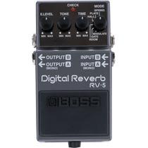Pedal De Efeito Para Guitarra Boss Digital Reverb Rv-5