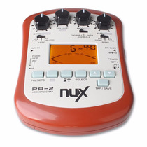 Nux Pa-2 Pedaleira Violao Metronomo Afinador Amp De Fone