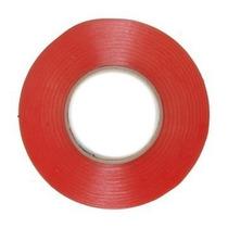 Fita Adesiva Dupla Face 3mm Vermelha 009746