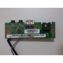 Placa De Audio + Usb Notebook Positivo Z63 Com Cabo