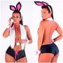 Fantasia Coelhinha Da Playboy + Brindes, Super Promoção!
