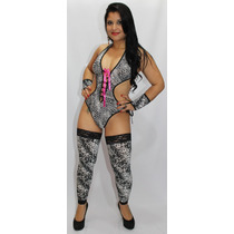 Fantasia Body Tigresa Feminina Sensuais Eróticas