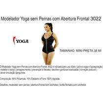 Cinta Modeladora Yoga Sem Pernas Com Abertura Frontal 3022