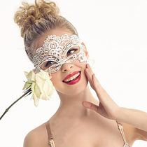 Mascara Sexy Facial Veneziana Carnaval Erótica Renda Branca