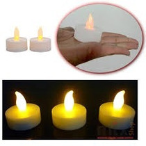 Kit 4 Velas Led Decorativas - Com Baterias Inclusas