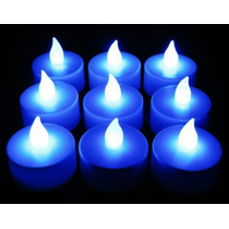 Velas De Led - Decorativas - Kit 25 Unidades - Azul