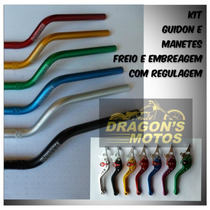 Guidão Moto Alumínio Xre 300 Guidon Xre300 + Manetes