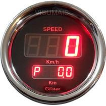 Velocimetro Digital Com Odometro 85mm Guster