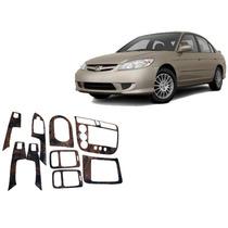 Kit Painel Estilo Madeira Painelkit Honda Civic 01/05