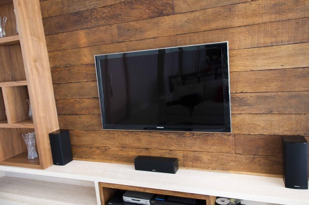 Como Instalar Tv Na Parede Da Sala ~  De Demolição Para Tv Revestimento Parede  R$ 399,00 no MercadoLivre