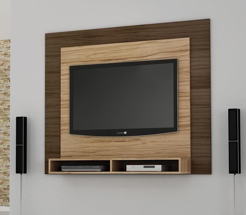 Sala Com Tv Lcd Na Parede ~ Painel De Parede Aero 1,60m P Tv Bancada Suspensa + Suporte  R$ 289