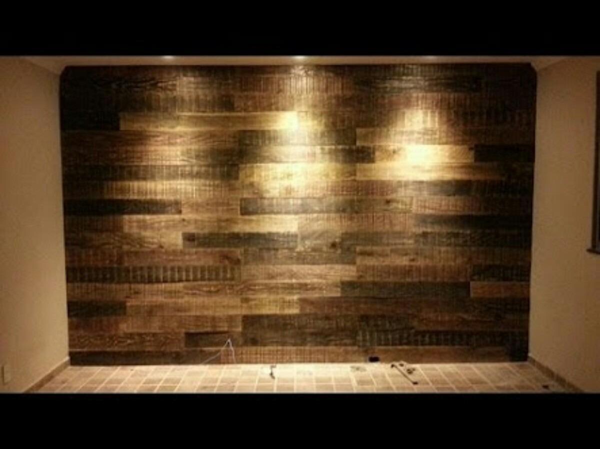 Painel Madeira Tv Revestimento Parede Sala Cozinha R$ 120 00 no  #B1911A 1200x899