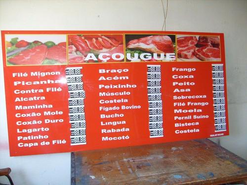 Painel Tabela De Preços Para Açougue