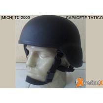 Capacete Mich Tático Tc-2000 Preto Fosco Frete Grátis