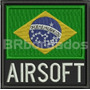 Bbr307 Bandeira Brasil 9 Cm Airsoft Paintball Patch Bordado
