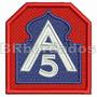 Eml034 Feb 5º Exército Brasil 2ª Guerr Patch Bordado 6x6,5cm