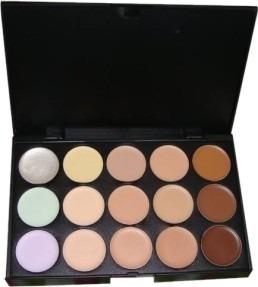 Paleta Base Corretivo 15 Cores Maquiagem Kit Maquiagem