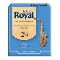 Palhetas Rico Royal P/ Sax Alto Nº 2,5 (cx C/ 10)