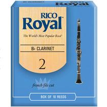 Palheta Rico Royal Clarinete Bb 2 Rcb1020 C/ 10 Und