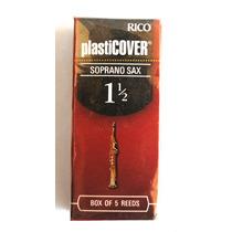 Palheta Sax Soprano Rico Plasticover 1 1/2 Caixa C/ 5 Unid.