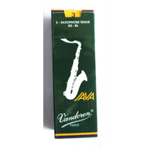 Palhetas Sax Tenor Vandoren Sr273 Nº3 5 Unidades Java