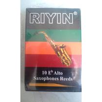 Paleta Para Sax Alto - Riyin - Nº 2,5 - Caixa Com 10 Reeds