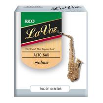 Palhetas La Voz - Sax Alto - Medium - (caixa Com 10)