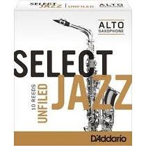 Palhetas Rico Select Jazz P/ Sax Alto Medium Nº 2 (cx C/ 10)