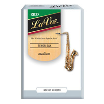 Palhetas La Voz - Sax Tenor - Medium - (caixa Com 10)