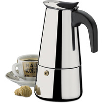 Cafeteira Tipo Italiana Em Inox - Café Espresso 6 Xícaras