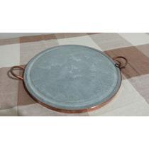 Grelha De Carne De Pedra Sabão 38 Cm.