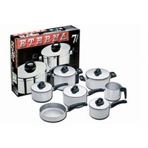 Jogo De Panela 7 Pçs Aluminio Polido Eterna Nigro 25535