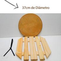 Kit Com Pedra Refratària P/ Pizza 37cm - Direto Fabricante