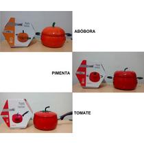 Panela Esmaltada 1.2 Litros - Abóbora - Pimenta - Tomate