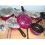 Conjunto 8 Peças Tramontina Victória Starflon Púrpura E Verm