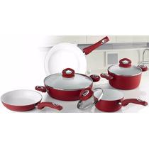 Conjunto De Panelas Ceramica Red 8 Peças - Bialetti