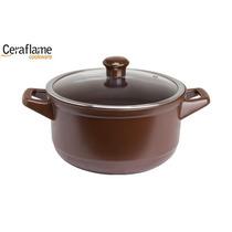 Caçarola 24cm Chocolate Ceraflame Linha Duo - C1003545