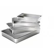 Conjunto Forma Assadeira Alumínio Borda Baixa Extra 4 Peças