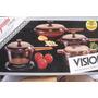 Panelas Vision Vidro Anos 80s C/ 4 Pçs Garantia Frete Grátis