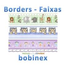 Faixas Borders Papel De Parede Infantil Ursinho Menina Leão