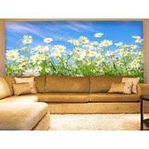 Papel De Parede Paisagens Flores Floral Campos De Flores M²