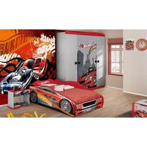 Papel De Parede Hot Wheels Fosco Luxo - M²