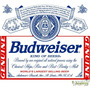 Adesivo Cerveja Budweiser King Of Beers Recorte # 02 (20 Cm