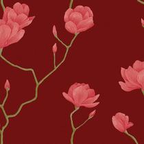Papel De Parede Para Sala Floral_ Lavável 52cmx10m