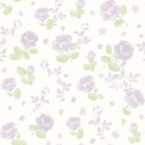 Papel De Parede - Flores Lilás (10 Metros X 52cm) Bobinex