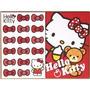 Papel De Carta 2 Hello Kitty 4 Folhas Diferentes+2 Envelopes