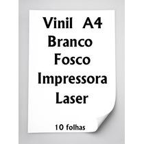 Vinil Adesivo A4 Para Impressora Laser