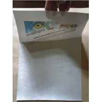 Vinil Adesivo P/ Impressora Jato De Tinta A4 - Aço Escovado